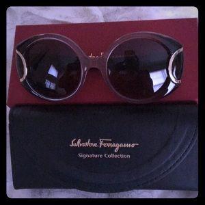 New Salvatore Ferragamo Vintage Style Sunglasses
